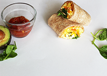 SNAC recipe Breakfast Burrito